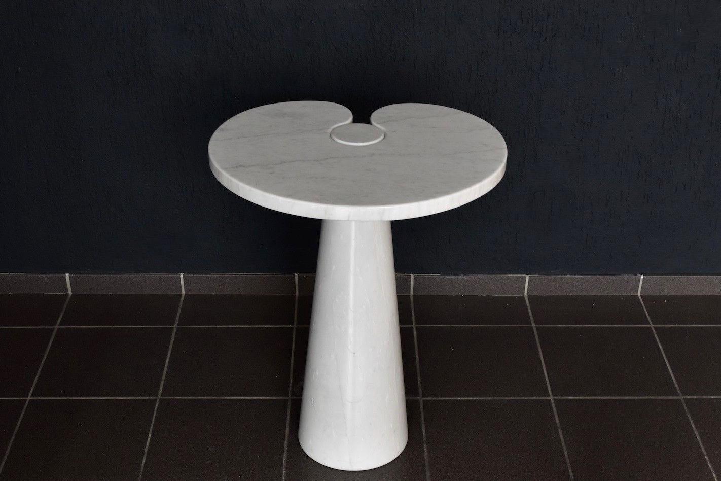 Vintage angelo mangiarotti marmor beistelltisch von for Marmor beistelltisch