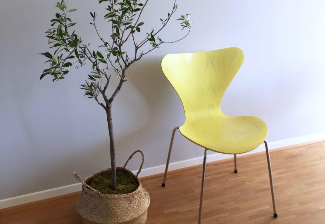 3107 in hellgelb von fritz hansen achtgrad. Black Bedroom Furniture Sets. Home Design Ideas